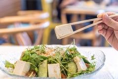 豆腐沙拉 免版税图库摄影
