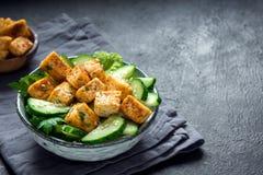 豆腐沙拉 库存照片