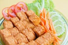 豆腐油煎的唯一 库存图片