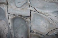 豆腐的联接和分裂在台东,台湾附近使岩石曝光有大理石花纹 库存照片