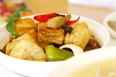 豆腐素食主义者食物 免版税图库摄影