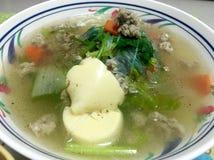 豆腐豆腐,泰国传统风格 免版税库存图片