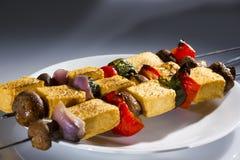 豆腐kebab。 免版税库存照片