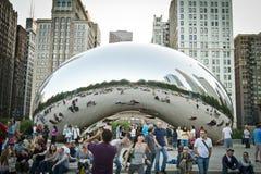 豆芝加哥节日音乐 图库摄影