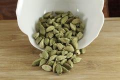 豆蔻果实绿色种子 免版税库存图片
