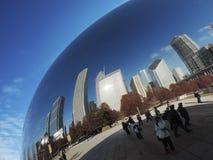 豆街市芝加哥 免版税库存照片