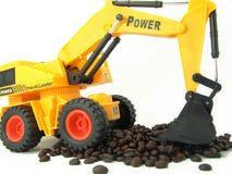豆装入程序微型移动铁锹 免版税库存图片
