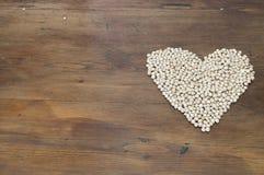 豆类和心脏 库存图片