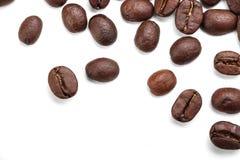 豆coffe查出的白色 免版税图库摄影