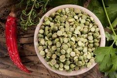 豌豆原始的已分解 库存照片