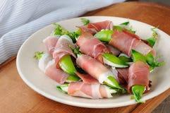 豌豆和火腿快餐  库存照片