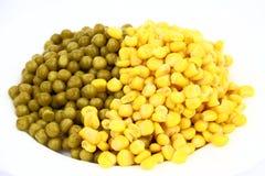 豌豆和玉米 免版税库存图片