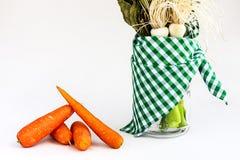豌豆和韭葱 免版税库存图片