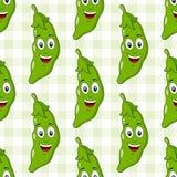 豌豆无缝的样式动画片荚  图库摄影