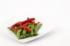 豌豆沙拉短冷期糖 库存图片