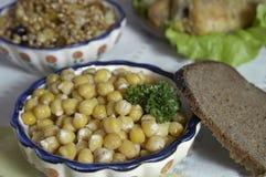 豌豆沙拉 免版税库存照片