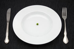 豌豆的饮食 免版税图库摄影