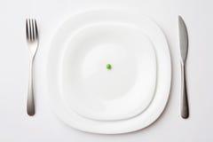 豌豆餐位餐具 库存照片