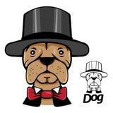 画象不可思议的狗帽商帽子 库存照片