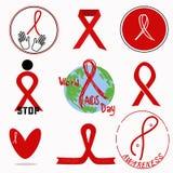 象世界艾滋病日 库存例证