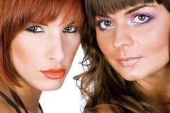 画象两个女孩 免版税图库摄影