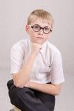 画象十二块玻璃的男孩 图库摄影