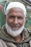 画象印地安人人 斯利那加,克什米尔,印度 关闭 免版税库存照片