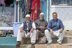 画象印地安人人 斯利那加,克什米尔,印度 关闭 免版税图库摄影