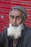 画象印地安人人 斯利那加,克什米尔,印度 关闭 免版税库存图片