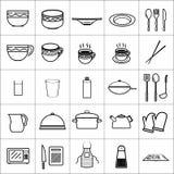 象厨具用工具加工盘碗餐馆 免版税库存图片