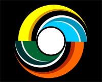象商标的Baground抽象螺旋 皇族释放例证