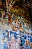 象在被加强的中世纪撒克逊人的教会里在村庄Malancrav,特兰西瓦尼亚 免版税库存图片