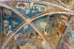 象在被加强的中世纪教会里在Malancrav,特兰西瓦尼亚 库存图片