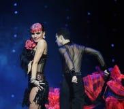 象复活这奥地利的世界舞蹈的亲热有生命的假人 库存图片