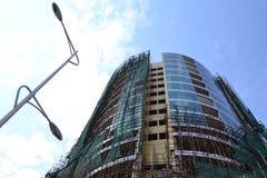 象大厦在金沙萨,建设中 免版税库存照片