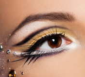 象女人的眼睛特写镜头  免版税图库摄影