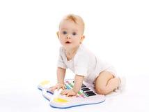 画象好奇婴孩使用 免版税库存图片
