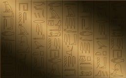 象形文字的海报 免版税库存照片