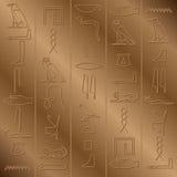 象形文字的背景 免版税库存图片