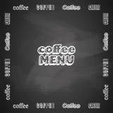 象征咖啡菜单 库存图片