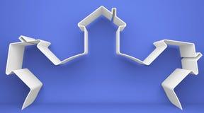 象征性的房子 免版税库存图片