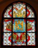 象征玻璃被弄脏的视窗 免版税库存照片