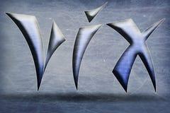 象征VIX 免版税库存图片