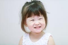 画象微笑亚裔小女孩 免版税库存图片