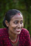 画象微笑妇女在尼泊尔 库存照片