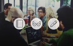 象想法想法数字式略写法媒介标志品牌概念 库存照片