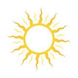 象或商标太阳,日光甲板或化妆用品的晒日光浴的 库存图片