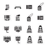 象手和条形码设计集合 免版税库存照片