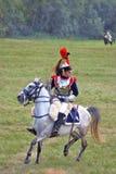 画象拿破仑式的战争战士(法国军队) 库存图片