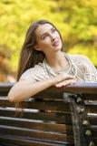 画象接近年轻美丽的白肤金发的女孩 库存照片
